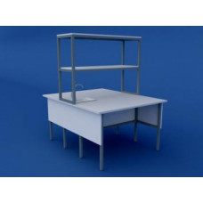 Стол лабораторный островной химический низкий ЛСХО-0.01-ВТМ  1200х1500х750/1350
