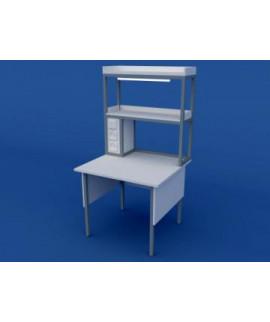 Стол лабораторный пристенный физический низкий  ЛСФ-0.01-ВТМ  900х850х750/1350