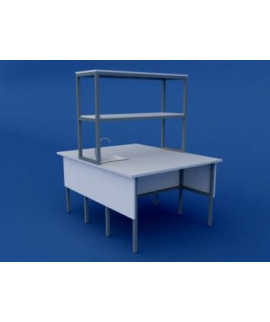 Стол лабораторный островной химический высокий ЛСХО-0.04-ВТМ  1200х1500х900/1500