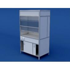 Шкаф вытяжной(пластиковая столешница) ЛШВ-0.01-ВТМ   1200х750х2000