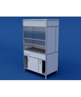 Шкаф вытяжной(керамическая столешница) ЛШВ-0.02-ВТМ  1200х750х2000