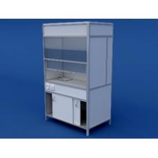 Шкаф вытяжной(пластиковая столешница) ЛШВ-0.03-ВТМ  1200х750х2000